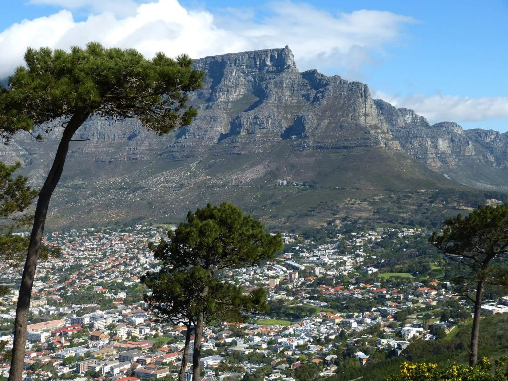 Table Mountain South Africa serves as the backdrop to Twelve Apostles luxury resort