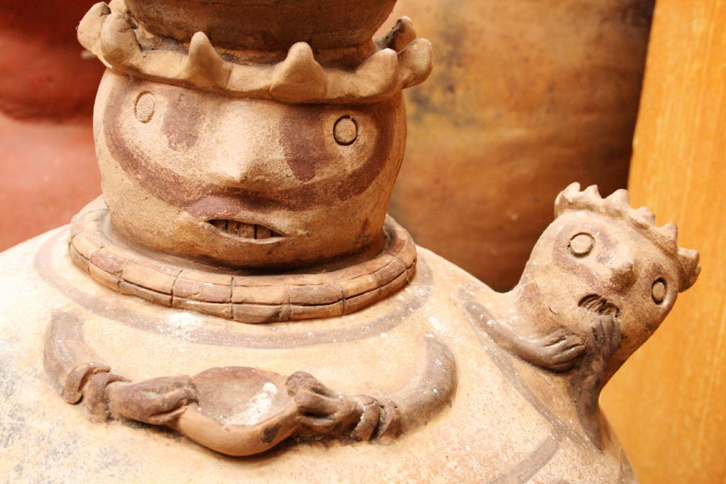 This pre-Columbian pottery comes from Ecuador. You'll see many such artifacts when you visit the Museum of Culture!