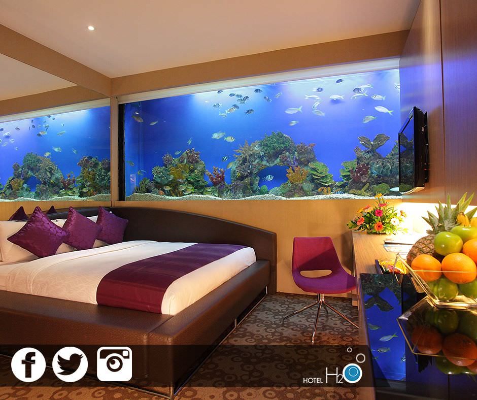 Talk about a room with a view! Photo: Hotel H2O Facebook.