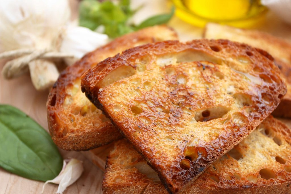 Fettunta, a Florentine garlic bread