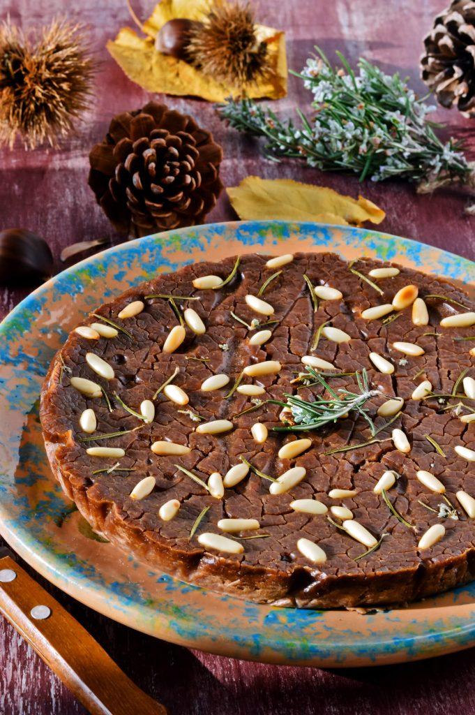 Castagnaccio - a Tuscan dessert