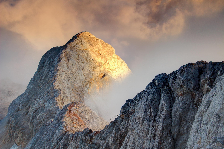 Peak of Mount Triglav in Slovenia