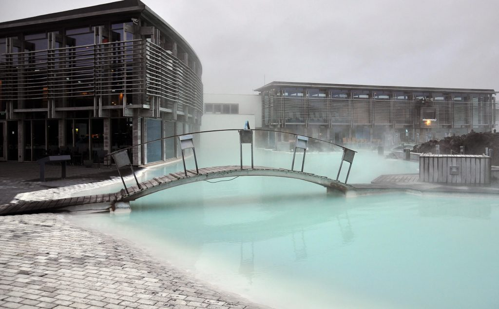 Milky blue waters of the Blue Lagoon.