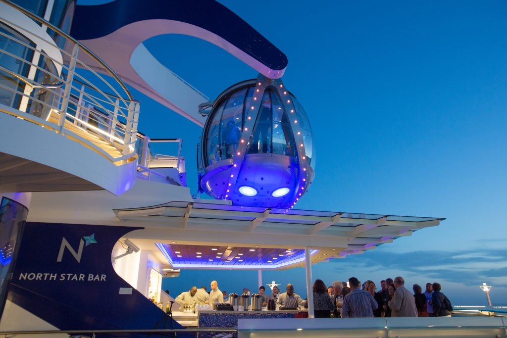North Star- a glass capsule hoisted above cruise ship for ultimate view