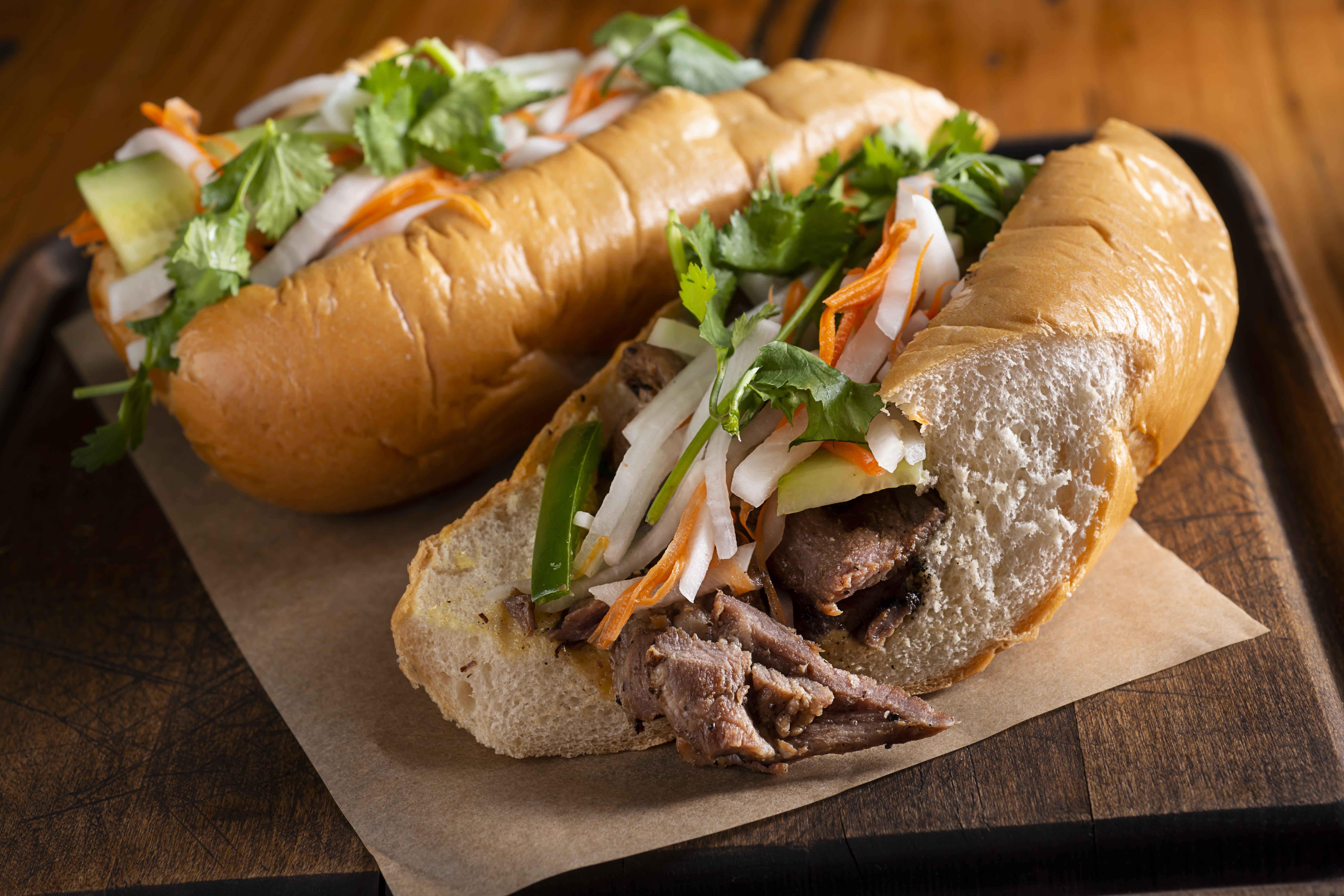 traditional banh mi sandwich