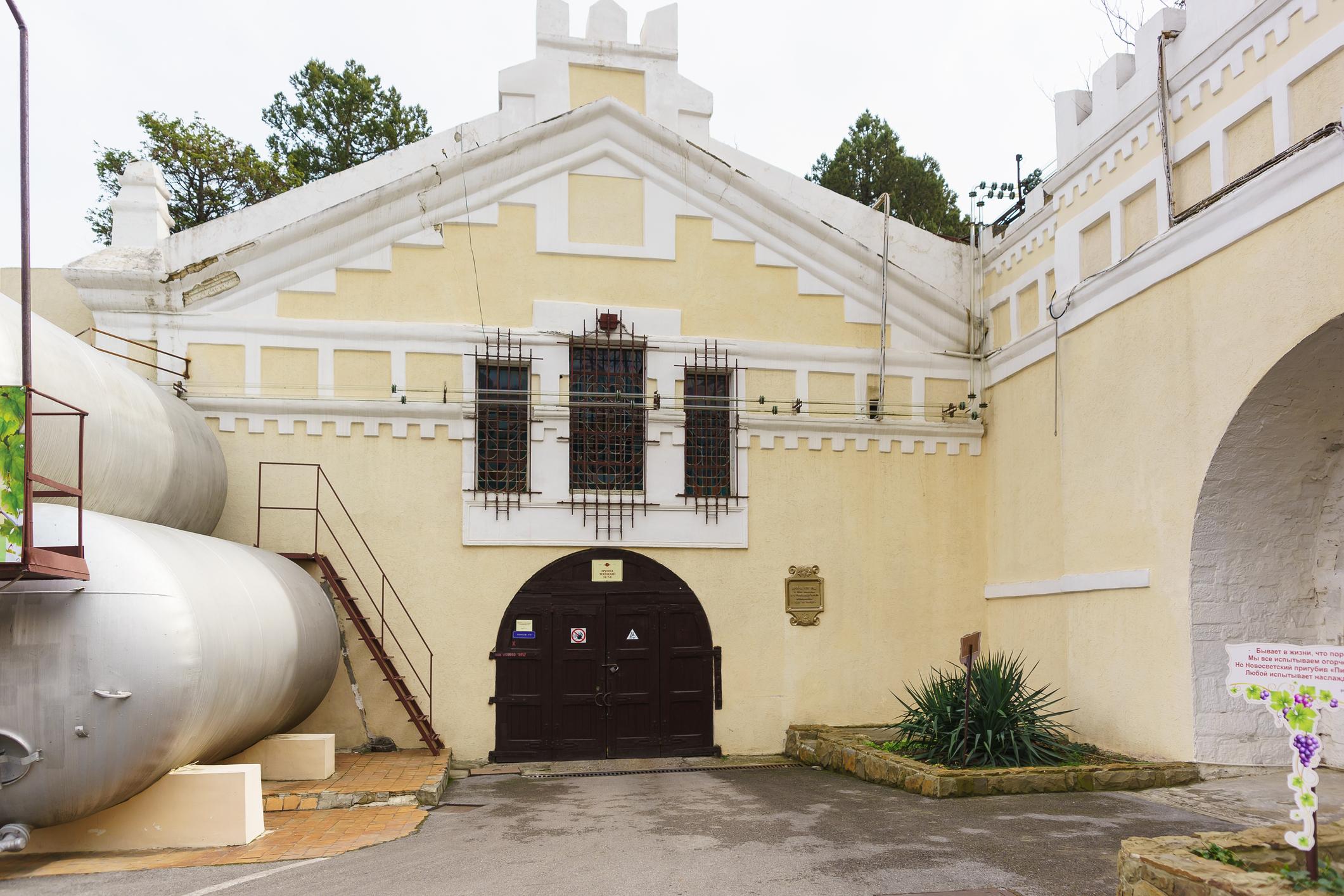 Entrance to Novy Svet Winery's cellars