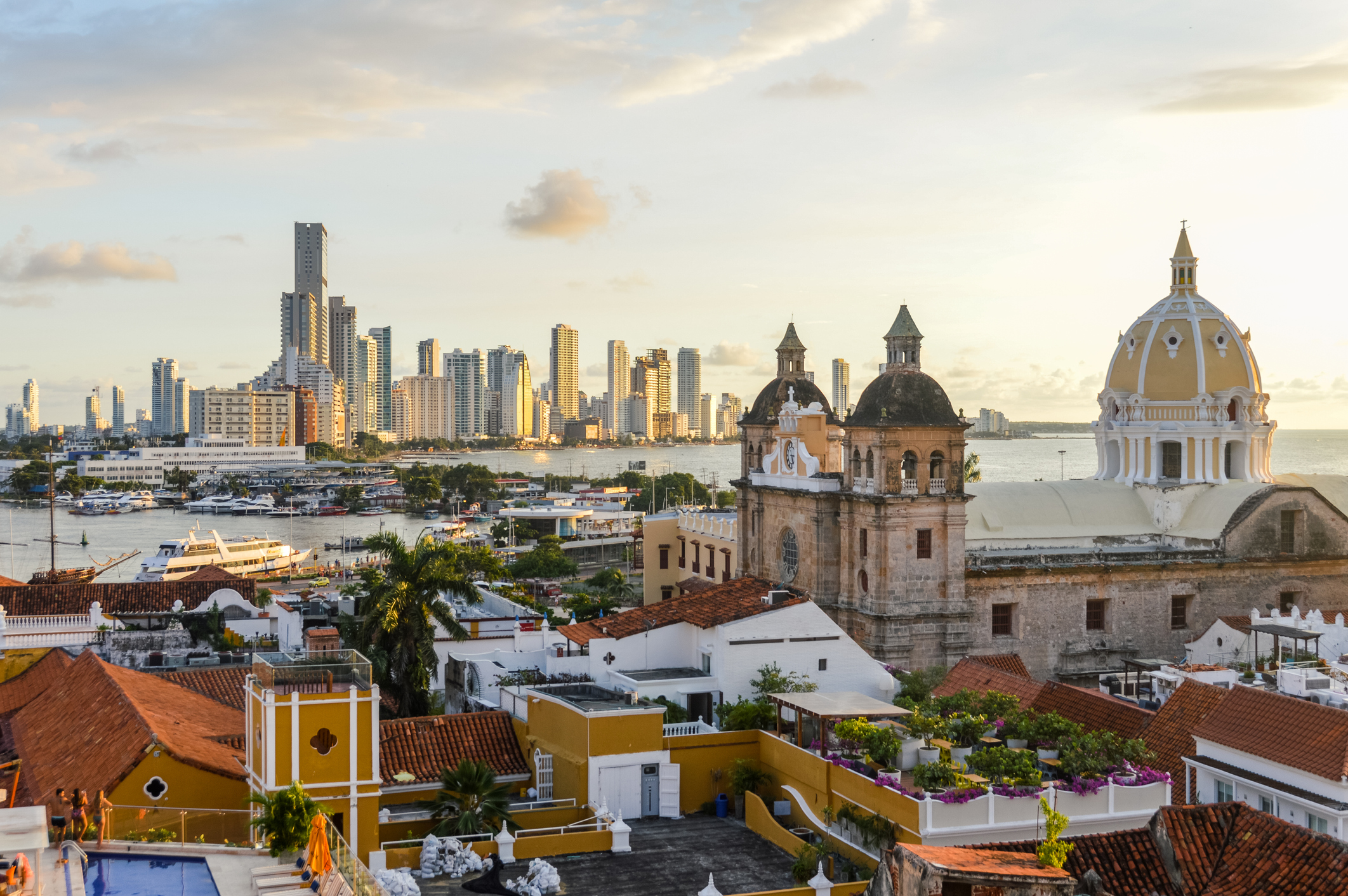 Sunset over Cartagena, Colombia