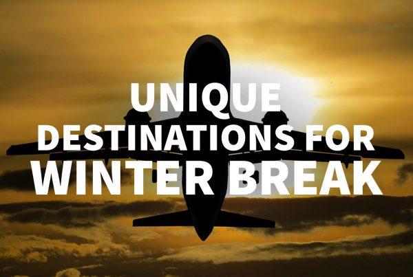 A plane takes off into the sunrise - Unique Destinations for Winter Break