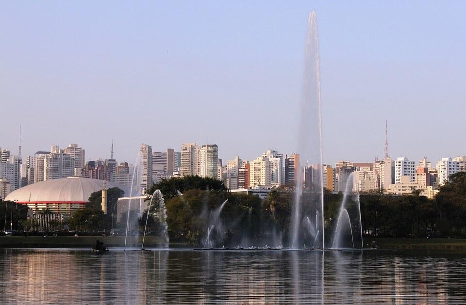 Lake inside Ibirapuera Park, São Paulo