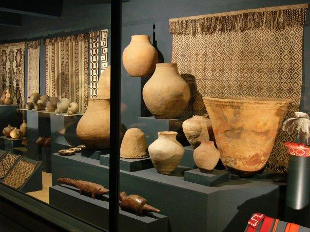 Indigenous ceramics and cloth.