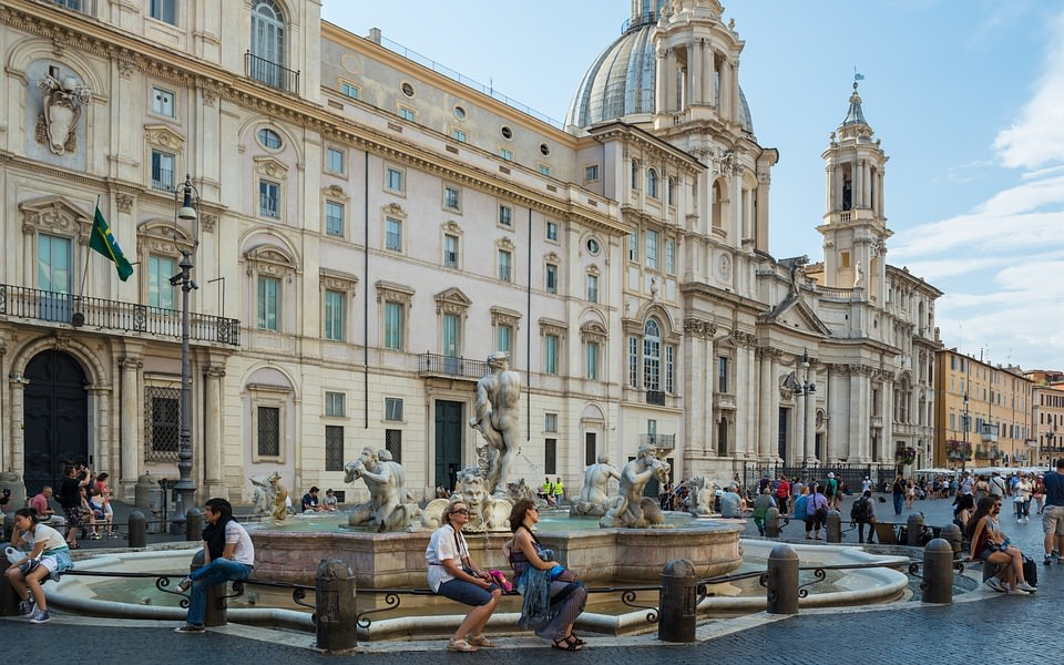 Piazza Navona - site where the movie poster for Eat, Pray, Love was shot.