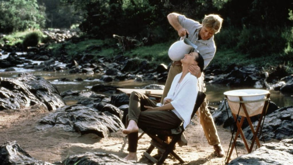 "Shampoo scene from ""Out of Africa"""