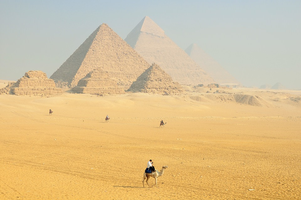 Leave the boat for a day and take a camel ride to the pyramids of Giza!