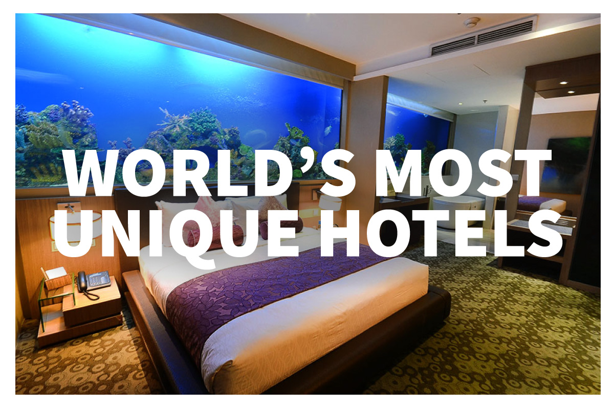 Unique hotels around the world jaya travel tours for Cool hotels around the world
