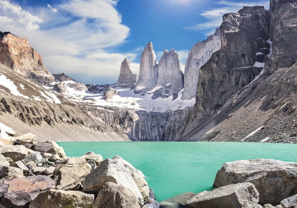 Torres del Paine - 3 distinctive peaks. Photo: iStock.