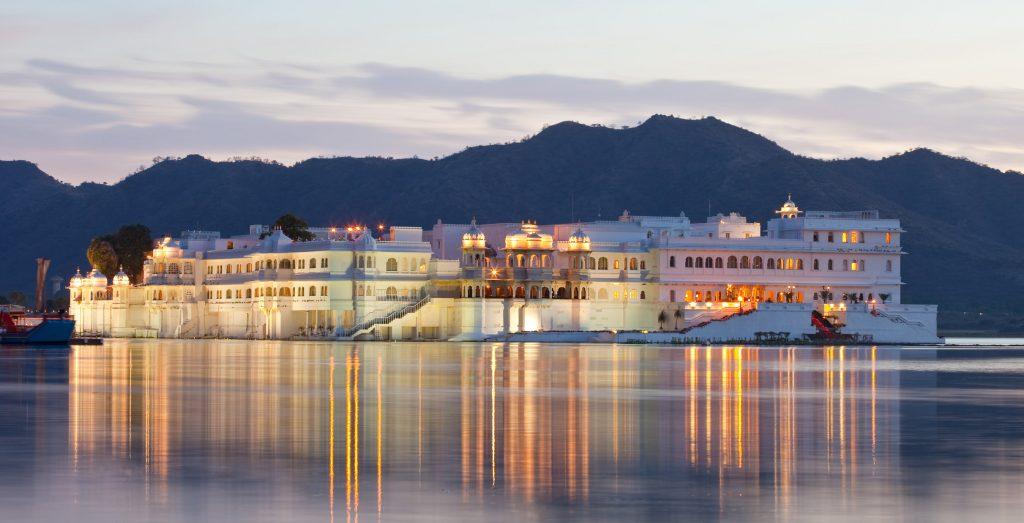 """Udaipur's """"Floating Palace. Photo: iStock."""