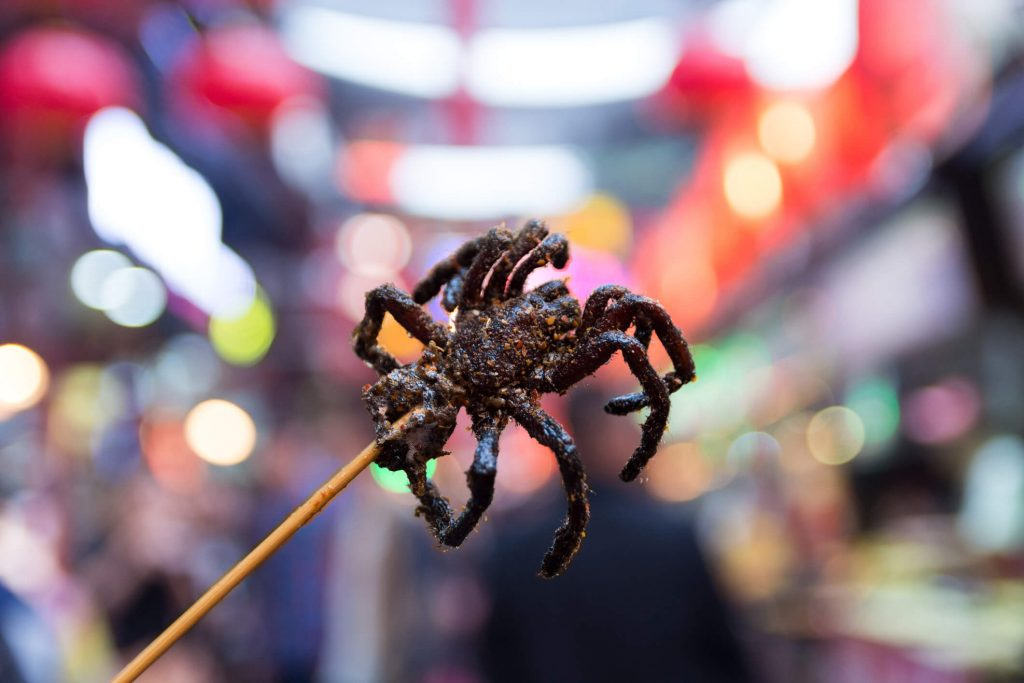 deep-fried tarantulas are a Cambodian delicacy
